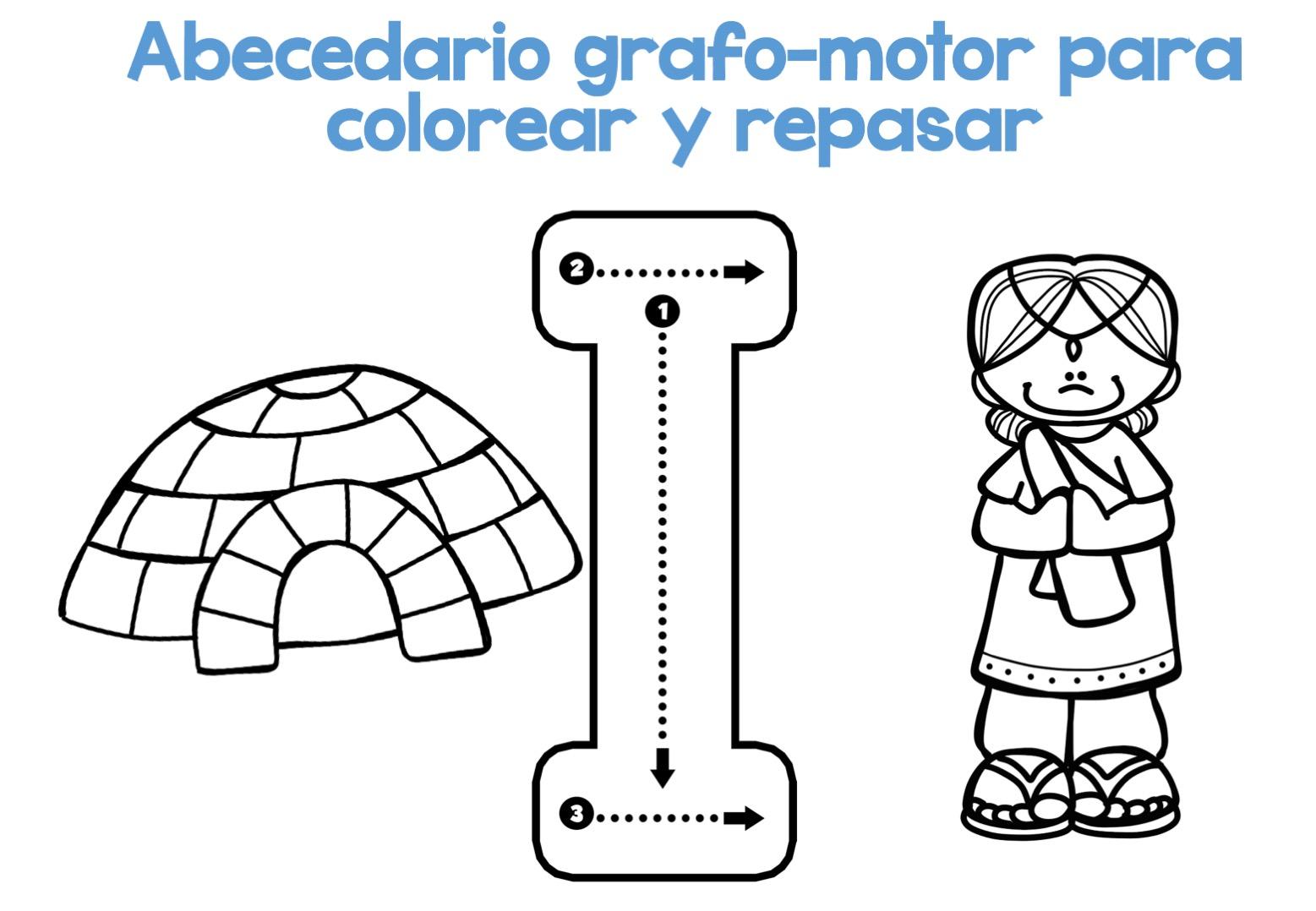 Completo Abecedario Grafo Motor Para Colorear Y Repasar9