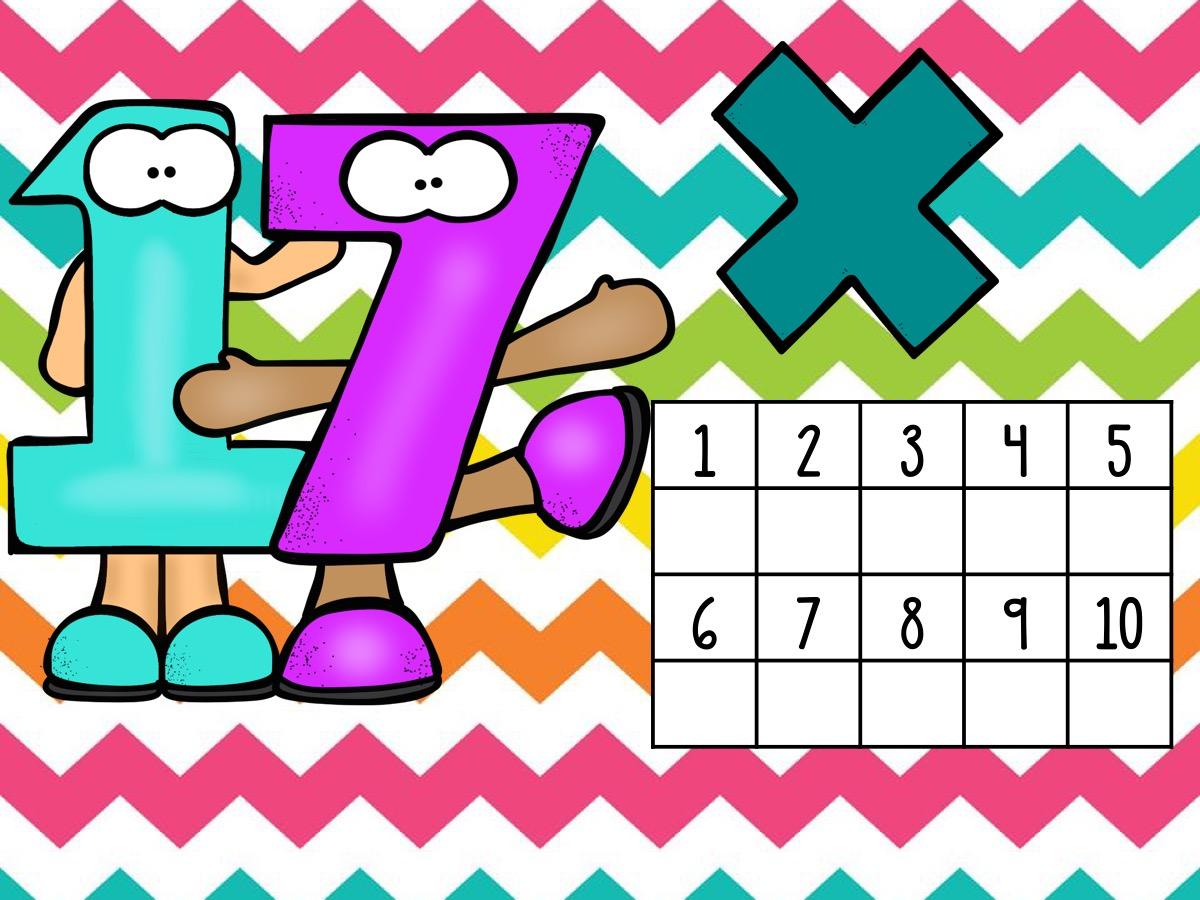 Tarjetas Para Repasar Las Tablas De Multiplicar Del 1 Al 20