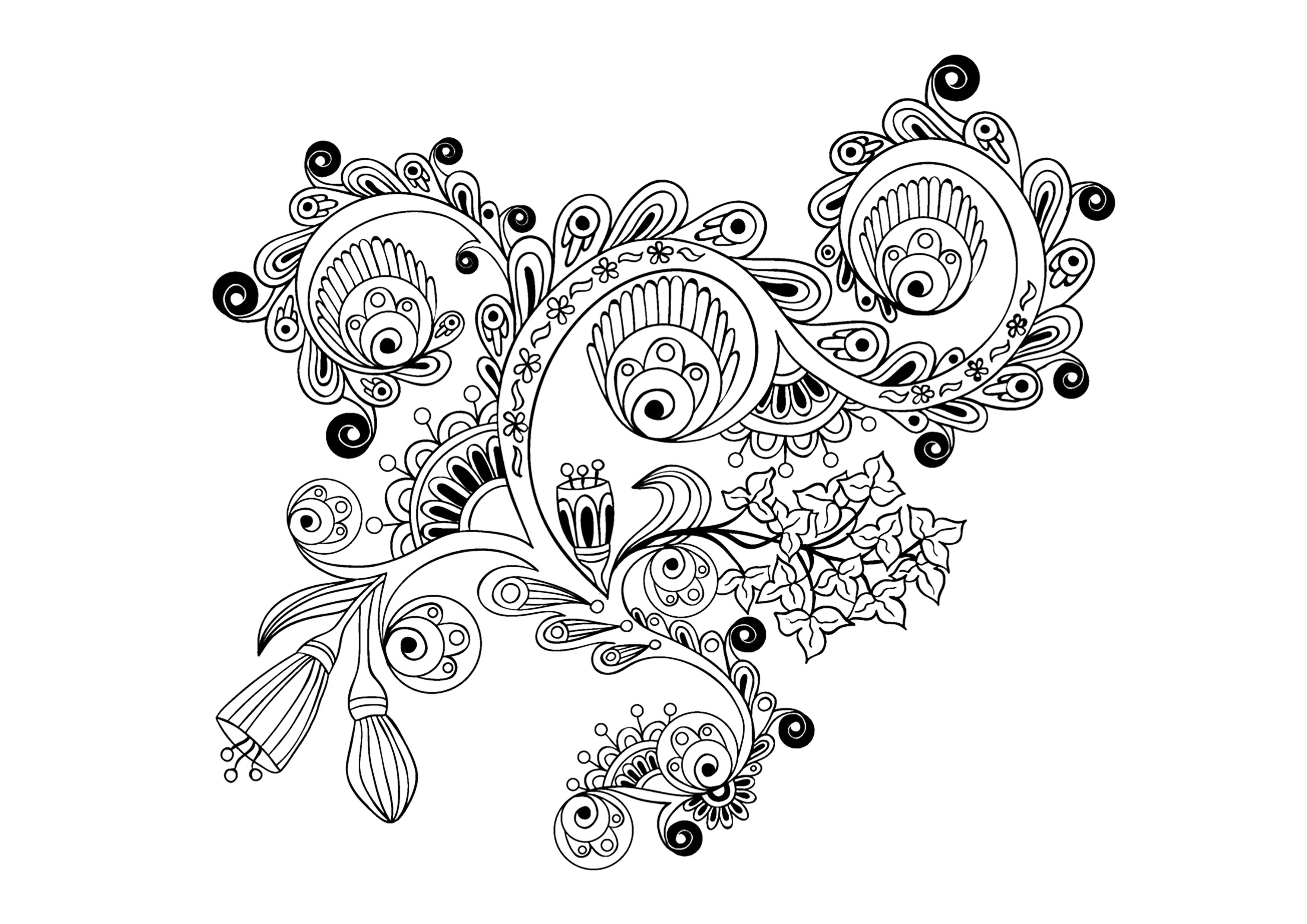 Image Result For Paisley Coloring Pages