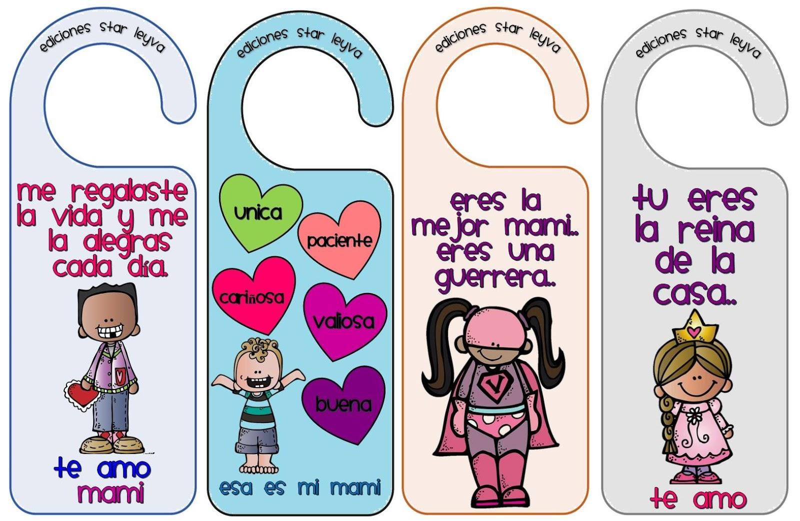 reconocimiento tarjetas mama 1 colgadores - Orientación Andújar ...