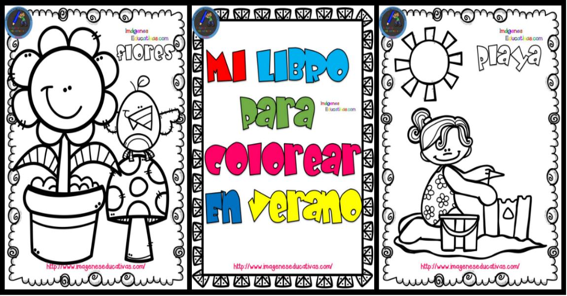 Mi libro para colorear en verano portada - Orientación Andújar ...