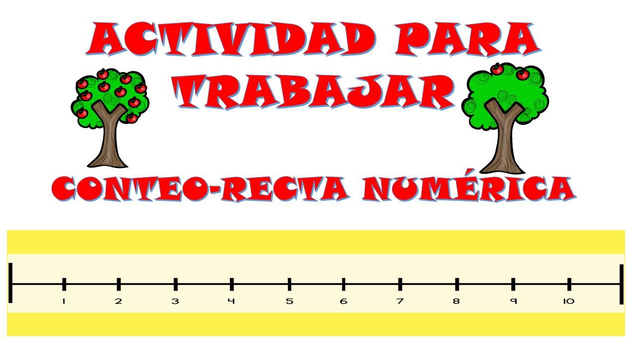 Actividades para trabajar el conteo en la recta numérica