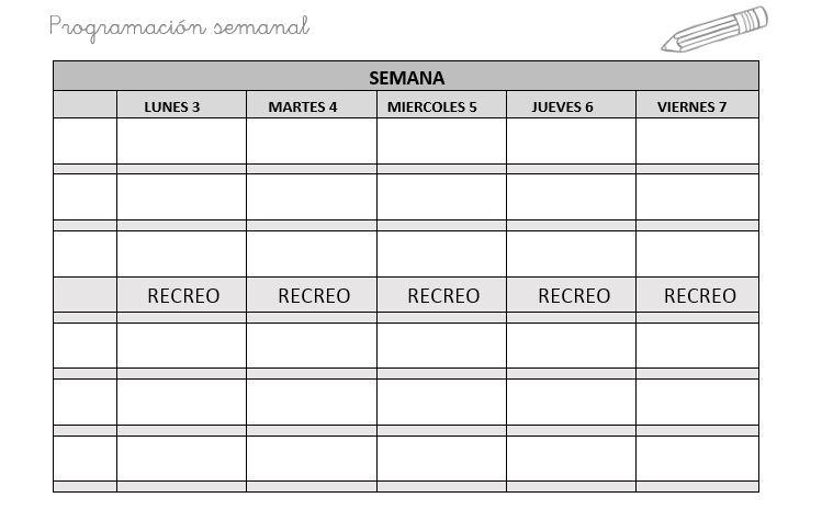 Planificador semanal editable para organizar tu programacion de aula ...