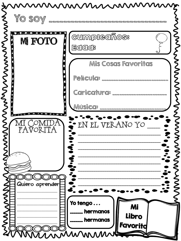 Todo para mi primer dia de clase ingles y castellano con for Actividades divertidas para el salon de clases
