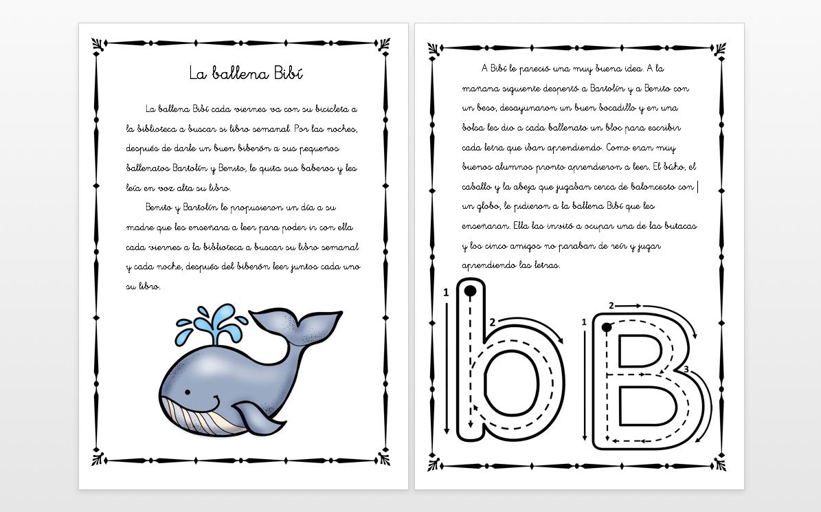 """Cuentos con fonemas la letra """"B"""" LA BALLENA BIBI - Orientación ..."""
