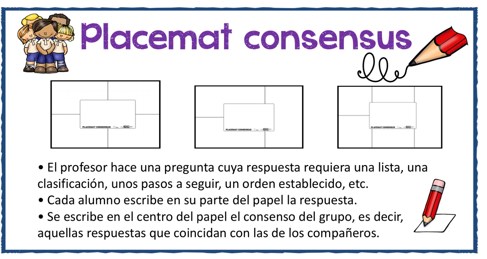 Técnica cooperativa simple Placemat consensus -Orientacion Andujar