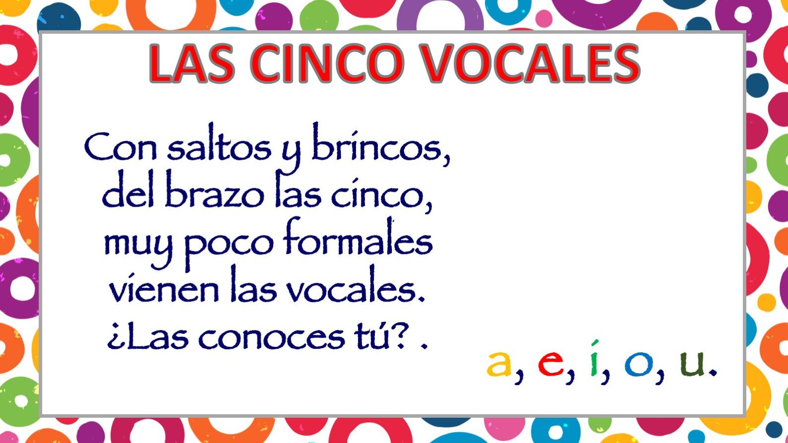 Poesia De Las Vocales: APRENDEMOS LAS CINCO VOCALES POEMA DE CARLOS REVIEJO2