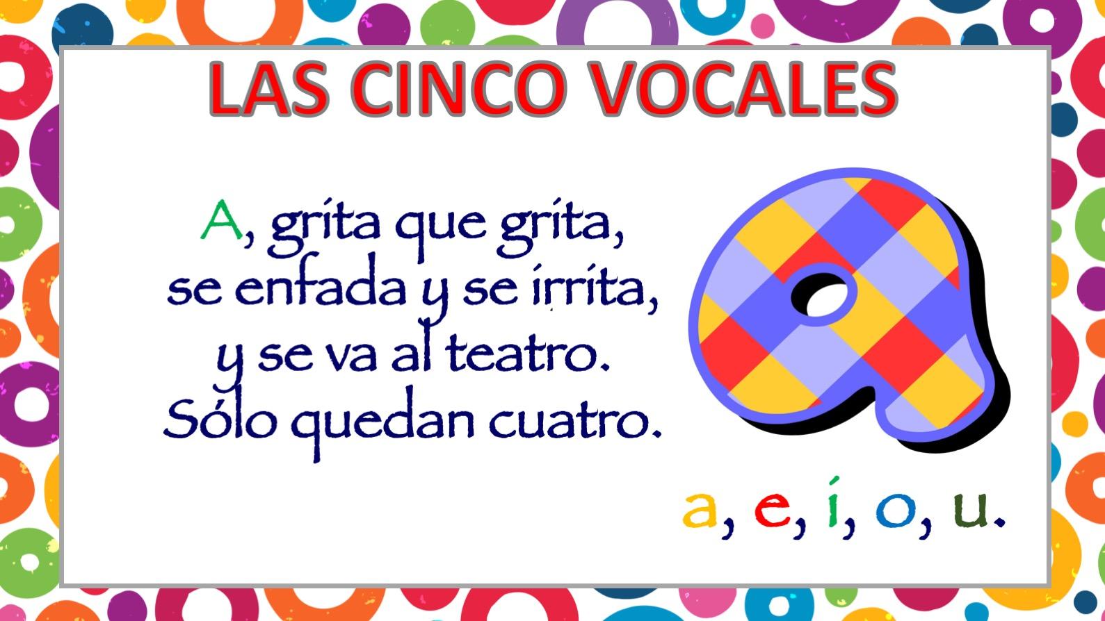 Poesia De Las Vocales: APRENDEMOS LAS CINCO VOCALES POEMA DE CARLOS REVIEJO3