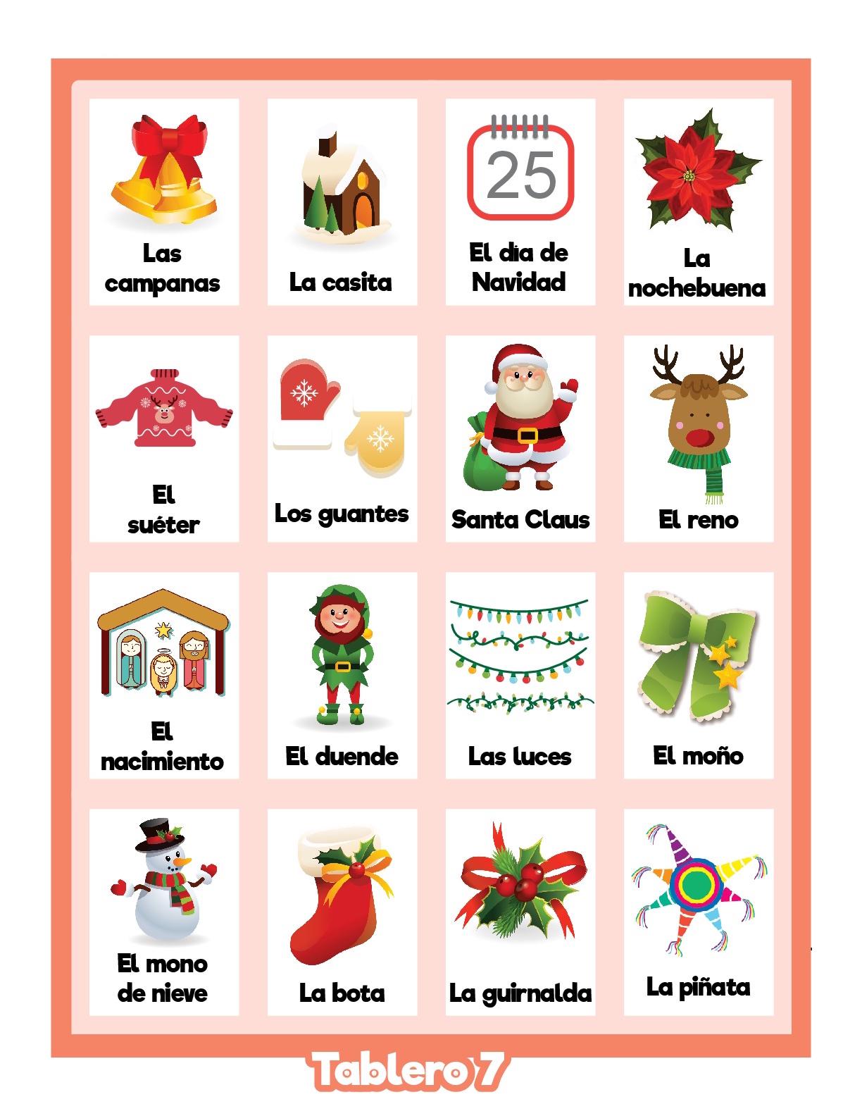 bingo navideños para jugar y divertirse8 - Orientación Andújar ...