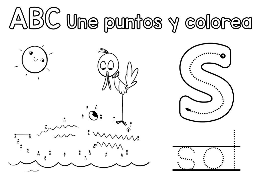 Unimos por puntos ABC Une, traza, diviérterte y colorea -Orientacion ...