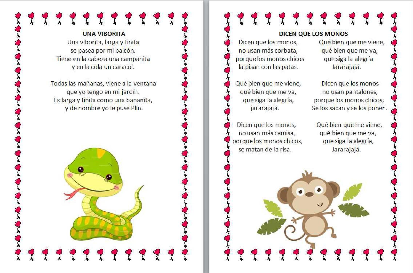 Coleccion de canciones infantiles 003 orientaci n - Letras infantiles para puertas ...
