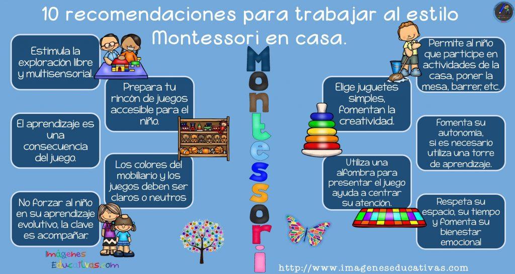 10 Recomendaciones Para Trabajar Al Estilo Montessori En Casa