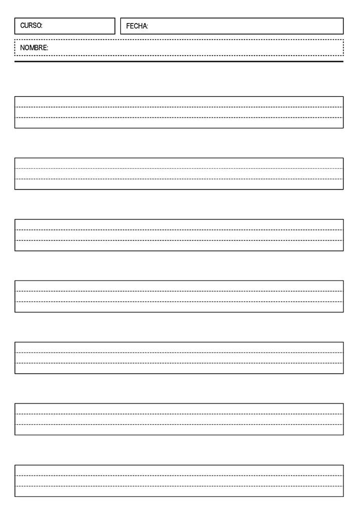 Colección de plantillas de pautas para escritura (20) - Orientación ...