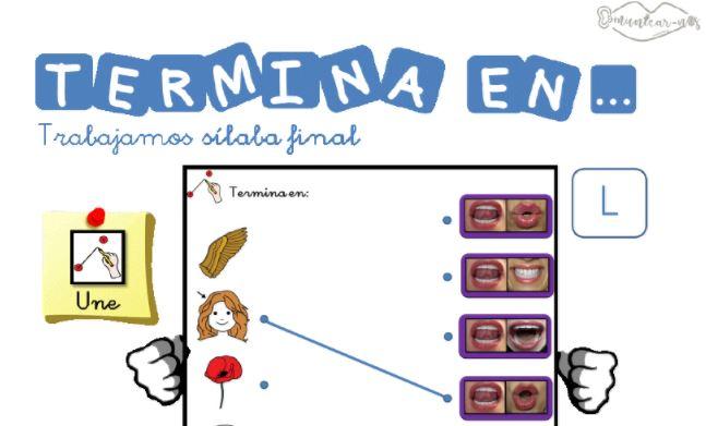 Actividades para imprimir CONCIENCIA SILÁBICA SÍLABA FINAL destacada ...