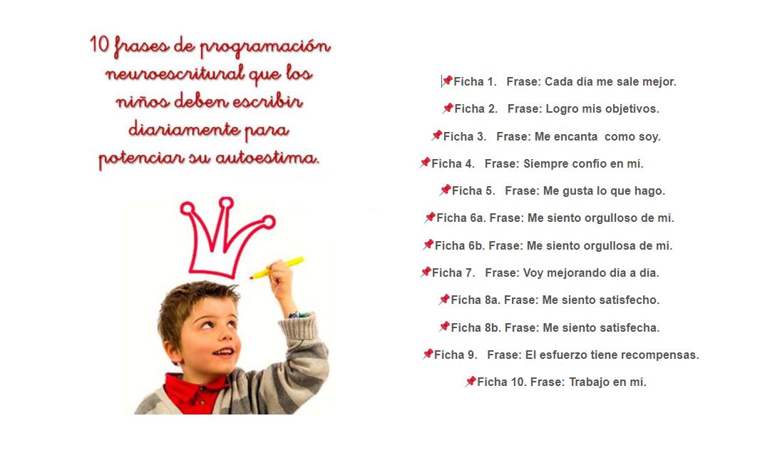 Caligrafía Para Fortalecer La Autoestima Infantil Con Frases