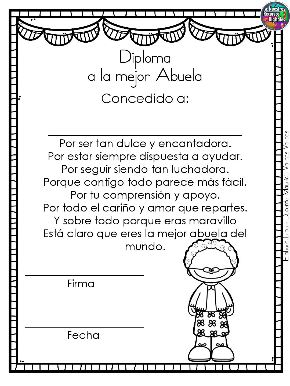 Diplomas Para Colorear Y Dar El Dia De Las Madres 010
