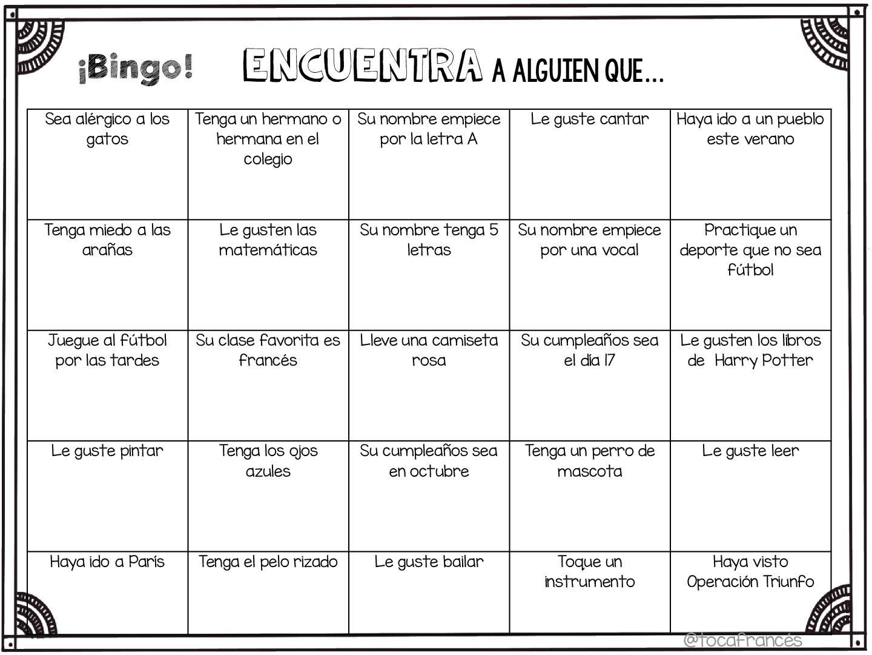 Bingo para el primer día de clase-001 (1) - Orientación Andújar ...