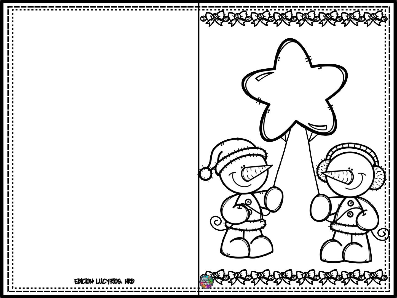 Tarjetas Navidenas Para Colorear 003 Orientación Andújar