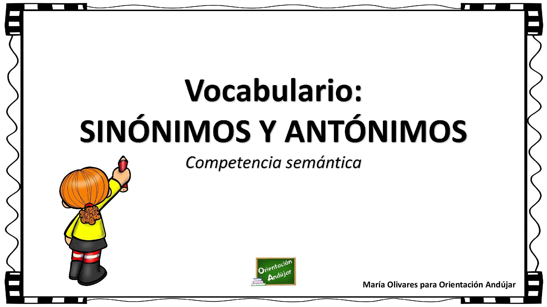 Cuadro Sinonimos Antonimos 001 Orientacion Andujar Recursos