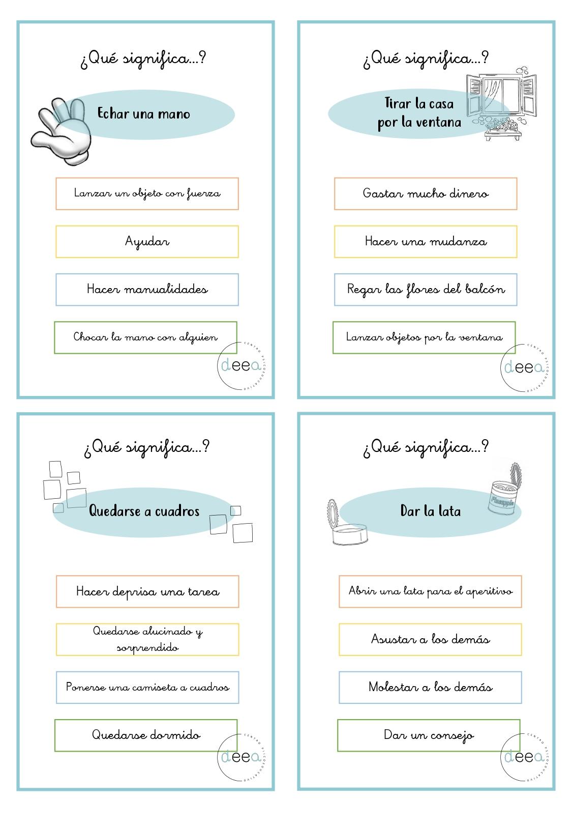 Material Manipulativo Para Trabajar Las Frases Hechaspage